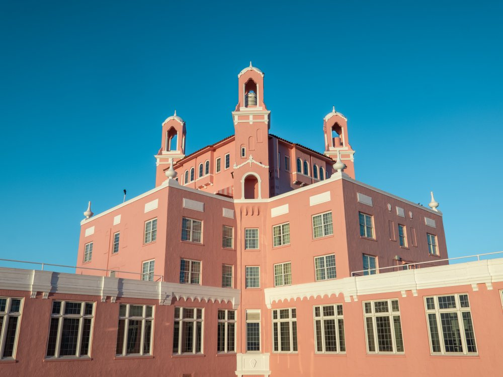 the outside of the Don CeSar building against the sky