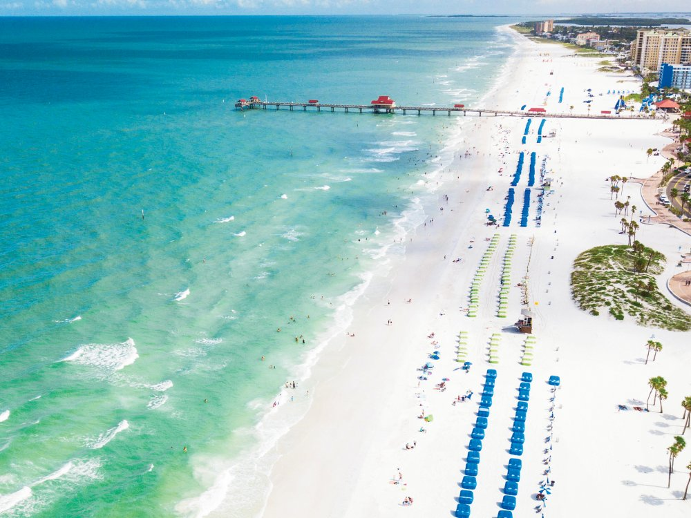 Aerial view of Pier 60 in Clearwater Beach.